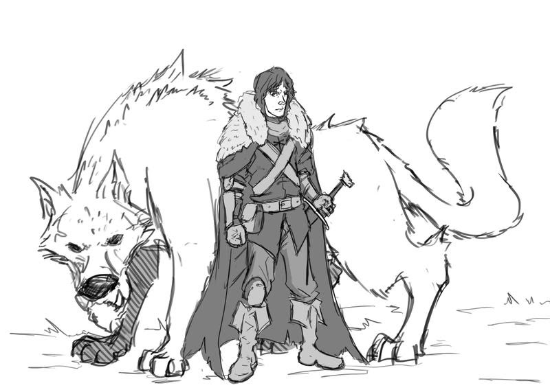 Dire Wolf Coloring Page Coloring Pages