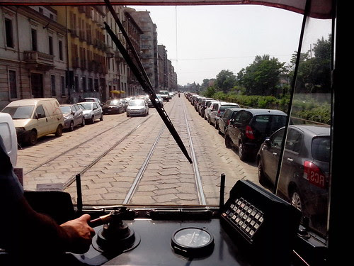 Il tram sulla Ripa Ticinese by Ylbert Durishti