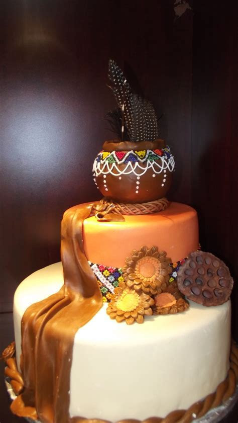 African Pot wedding cake   african wedding cakes   African