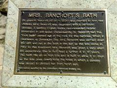 Mrs Bancroft's Bath