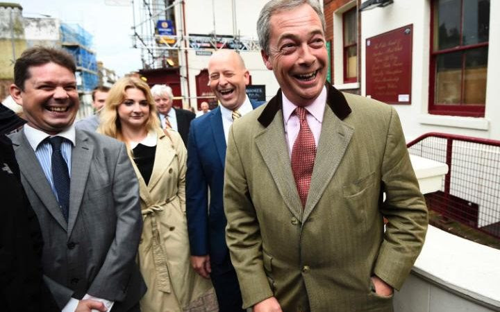 Nigel Farage, the leader of Britain's anti-EU party UKIP