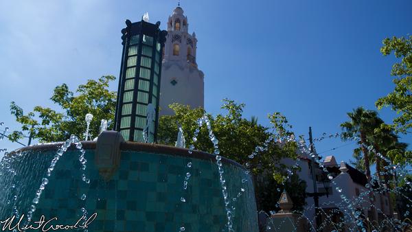 Disneyland Resort, Disney California Adventure, Buena Vista Street, Fountain