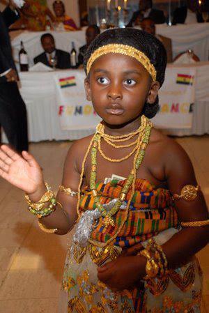 kente, beads, beautiful girl.