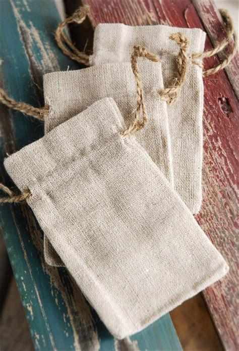 Linen Favor Bags 3x5 Drawstring (12 bags)