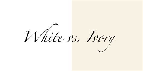 White vs. Ivory: What?s the Best Color for Your Skin Tone