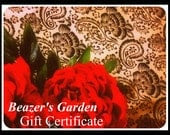 Gift Certificates- You Choose Amount- Men- Women- Weddings- Holidays- Birthdays