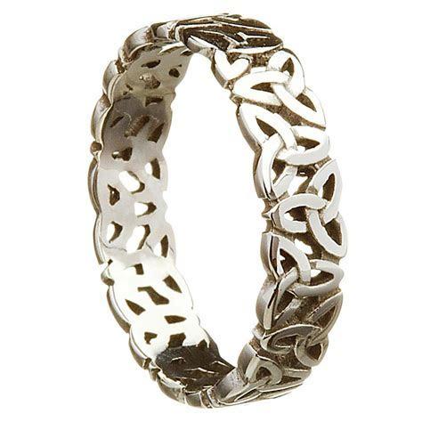 Irish Wedding Ring   Celtic Trinity Love Knot Ladies