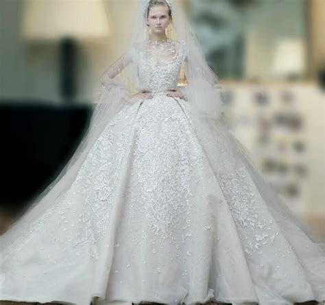 Elie Saab Wedding Dresses 2015 Ball Gown High Neck