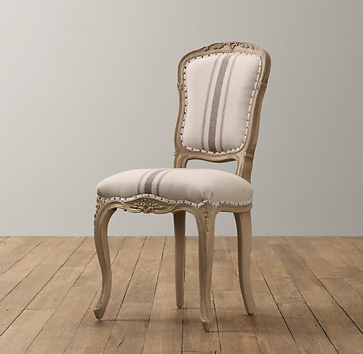 Vintage French Flour-Sack Desk Chair