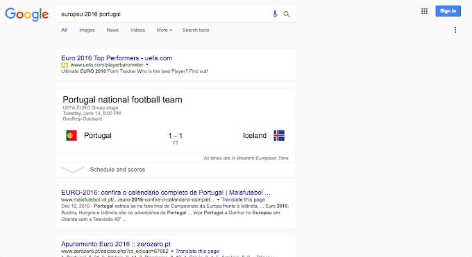 Google com novo design nas pesquisas!