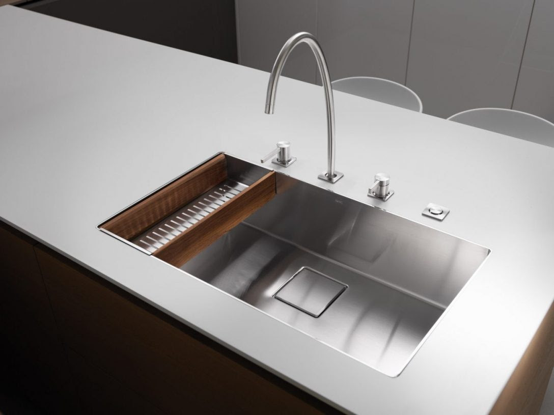Küche Waschbecken Abfluss Verstopft Wohnmobil Edelstahl ...