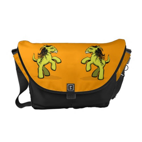 My Creepy Little Pony (Yellow) Courier Bag