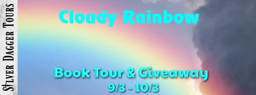 ook Tour Banner for paranormal romance novel Cloudy Rainbow by Debbie DeLouise  with a Book Tour Giveaway