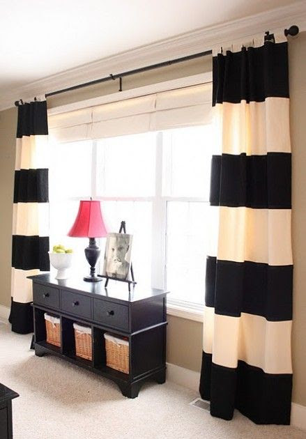 I actually really like these curtains. Something like this could be a good compromise.