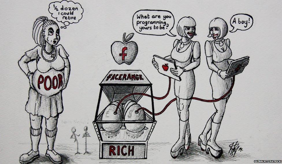 Glenn Fitzpatrick's image shows women discussing fertility