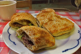 Kingdom of Dumpling - Sesame Pancake with Marinated Beef
