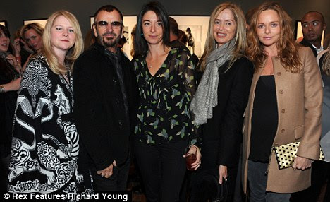 Fab Five: Lee Starkey, Ringo Starr, Mary McCartney, Barbara Bach and Stella McCartney pose for pics at Mary's book launch
