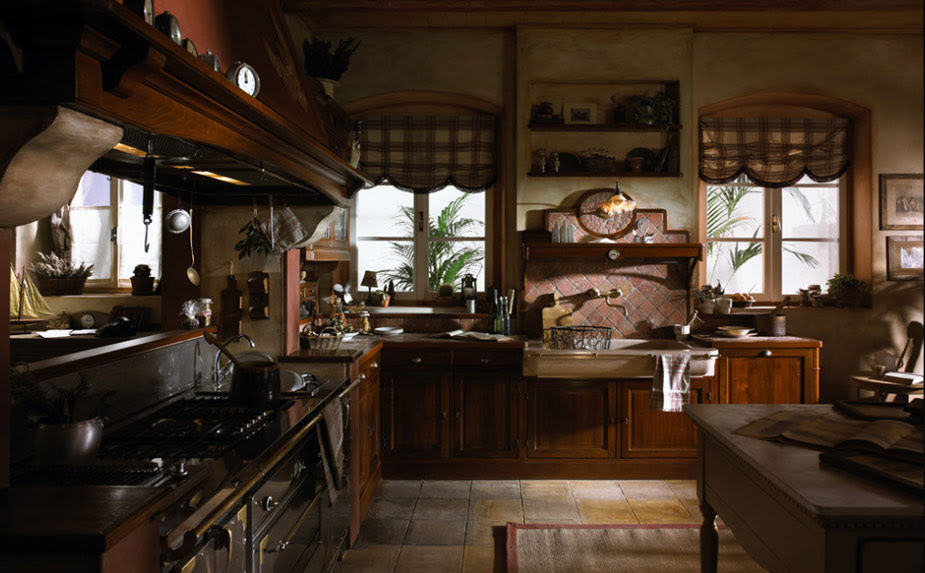 Old Town and Country Style Kitchen Pictures