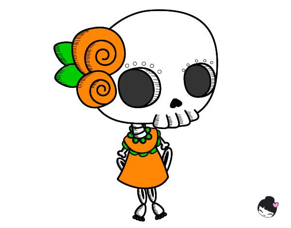 Calaveras Día De Los Muertos Para Colorear Manualidades