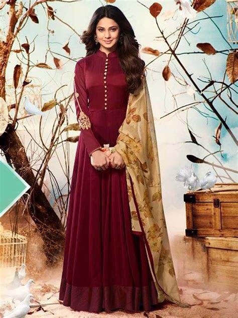 Maroon Color Indian ethnic Designer anarkali for wedding