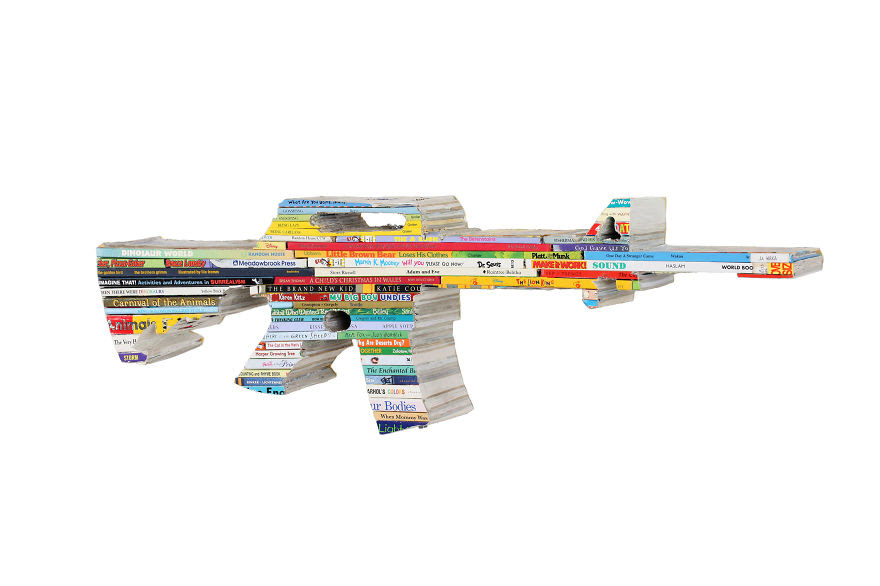Ar-15 Made From Childrens Books ©rossa Cole, 2014