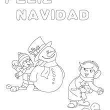 Dibujos Para Colorear Cartel Muñeco De Nieve Eshellokidscom