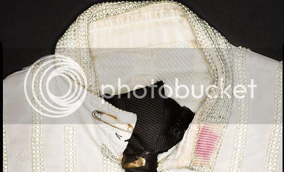 Michael Jackson Rusty zipper and soiled collar custome shirt