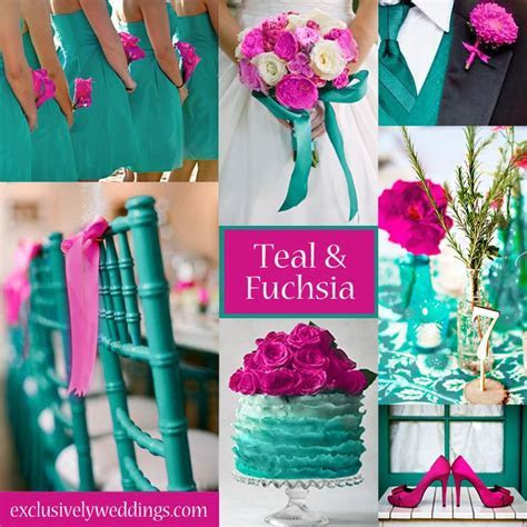 Teal and Fuchsia Wedding Colors   A vibrant palette for