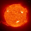 solar image from the NASA SOHO page