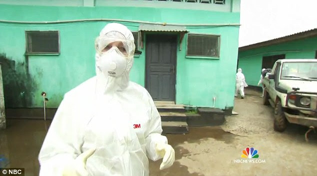 Front line: Dr Nancy Snyderman reported on Ebola for NBC from Liberia, one of the countries most affected