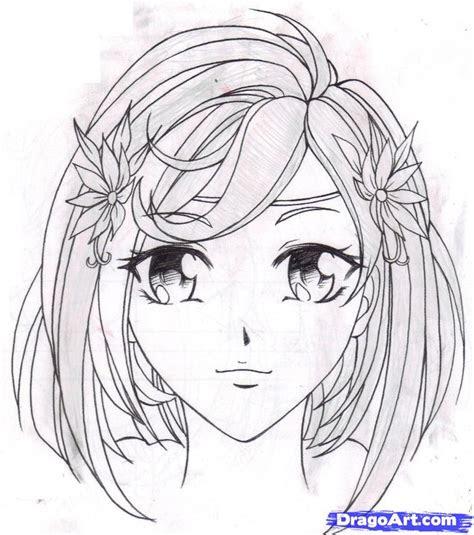 draw  anime girl step  step anime characters