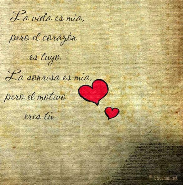 Imagen Para Facebook Con Frases De Amor La Vida Es Mia Pero El