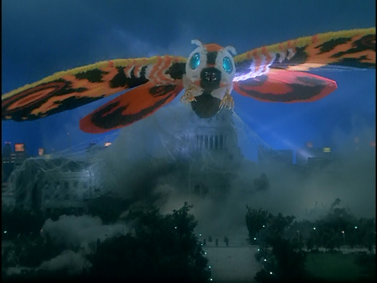 Mothra showing her lovely wings