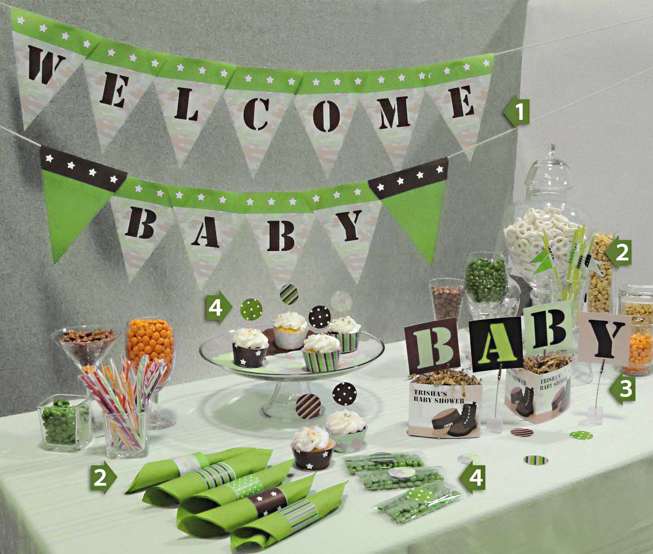 Green Baby Shower Time For The Holidays