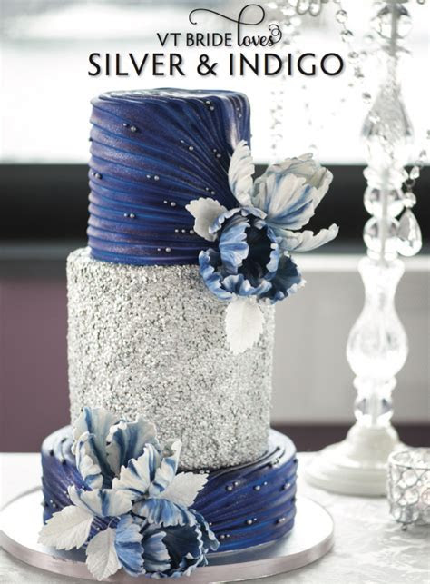 ?Silver? and ?Indigo? ?wedding? ?inspiration? featured in