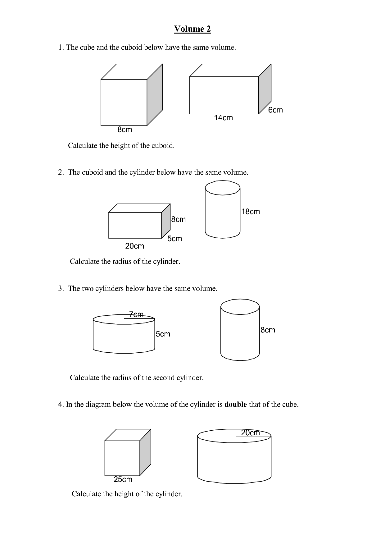 Finding the volume of prisms and cylinders by ...