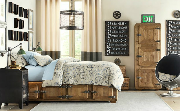 classic industrial boys room decorating ideas