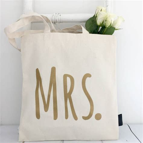 'mrs' wedding tote bag by kelly connor designs