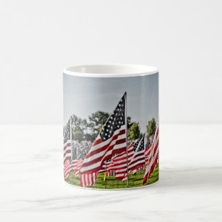 Flags at Art Hill-9-11 Coffee Mug