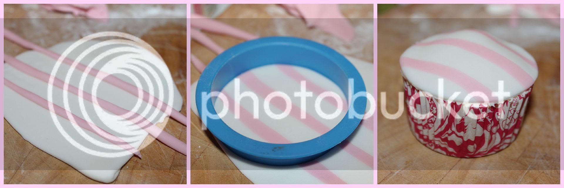 Making-a-striped-dome-cupcake
