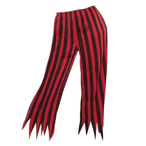 adults striped pirate caribbean wench costume trousers