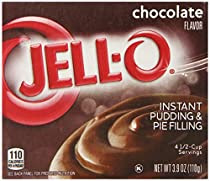 Jell-O Instant Pudding & Pie Filling, Chocolate, 3.9-Ounce Boxes (Pack of 6)