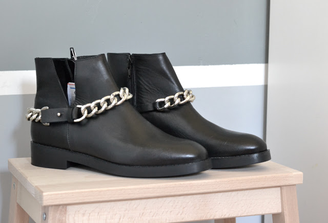 New in by belgium fashion blogger turn it inside out: zara chain boots 2014 givenchy inspired curb ankle boots