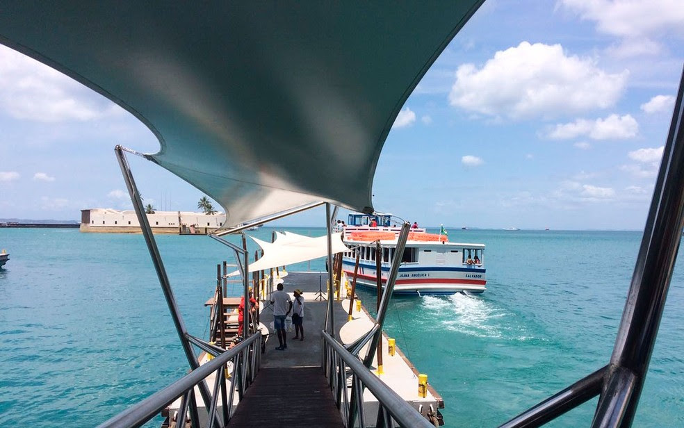Travessias entre Salvador e Mar Grande tem parada de 2h por causa de maré baixa. (Foto: Juliana Almirante/G1)