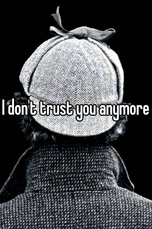 I Dont Trust You Anymore