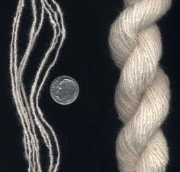 Bowmont & Angora blend yarn.