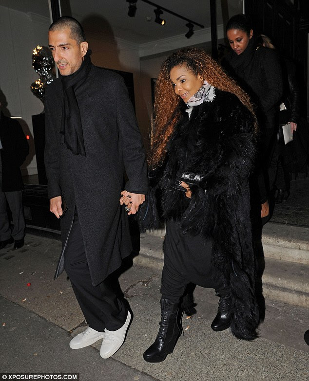 Spotted: Janet Jackson displayed that 'unbreakable' spirit as she emerged for the first time since denying she had cancer while on an outing in London with her husbandWissam Al Mana