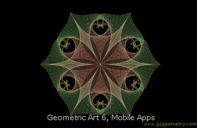 Geometric Art: Mobile Apps 6, Software, iPad, Point, Line, Plane.