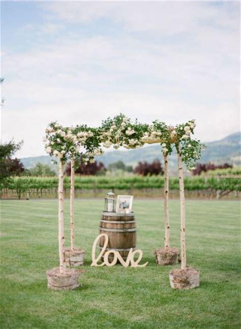 Rustic wedding arch chuppah   Deer Pearl Flowers