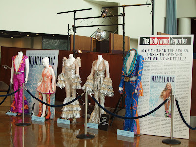 Mamma Mia The Movie costumes on display at Arclight Hollywood L.A.